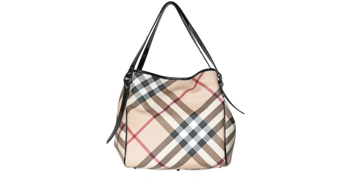 8221d90fcc50 Lyst - Burberry Small Canterbury Nova Pvc Shoulder Bag in Natural