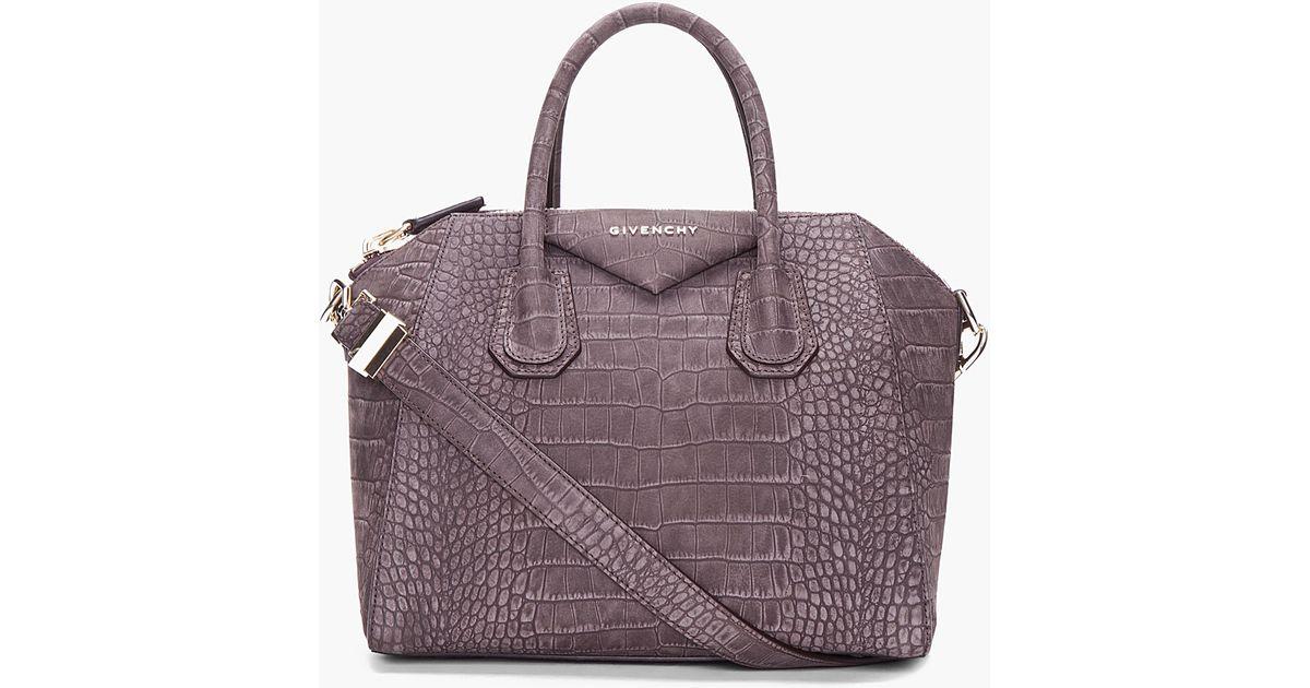 1187727680e Givenchy Small Charcoal Antigona Bag in Gray - Lyst
