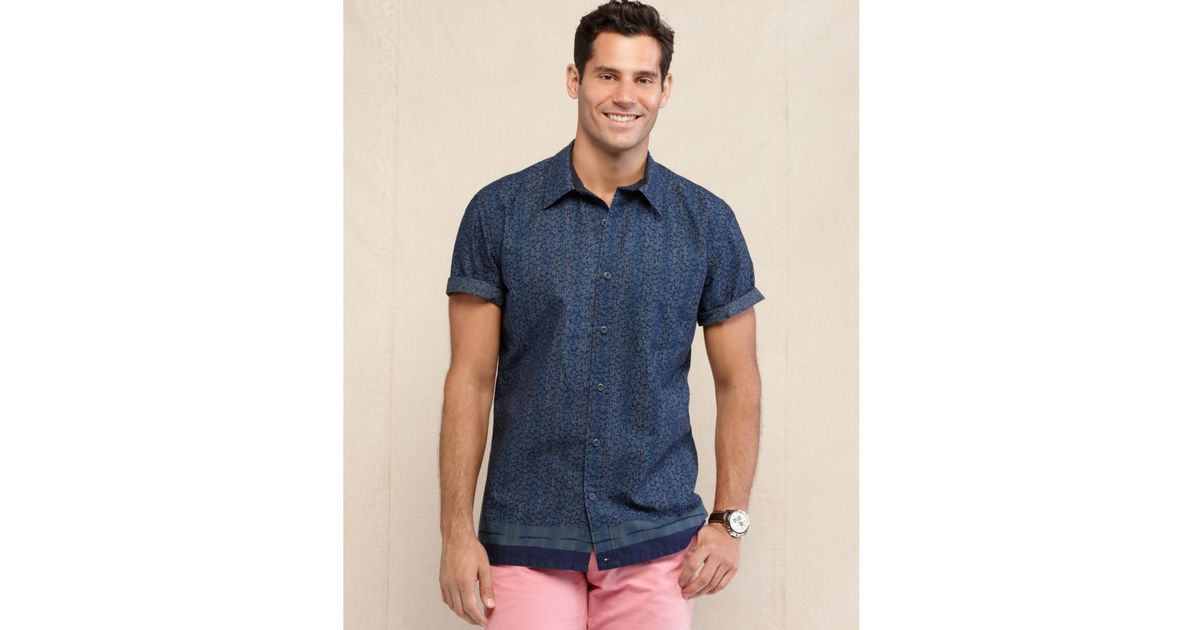 dd17d253 Tommy Hilfiger Indigo Collection Ralston Floral Print Slim Fit Shirt in  Blue for Men - Lyst