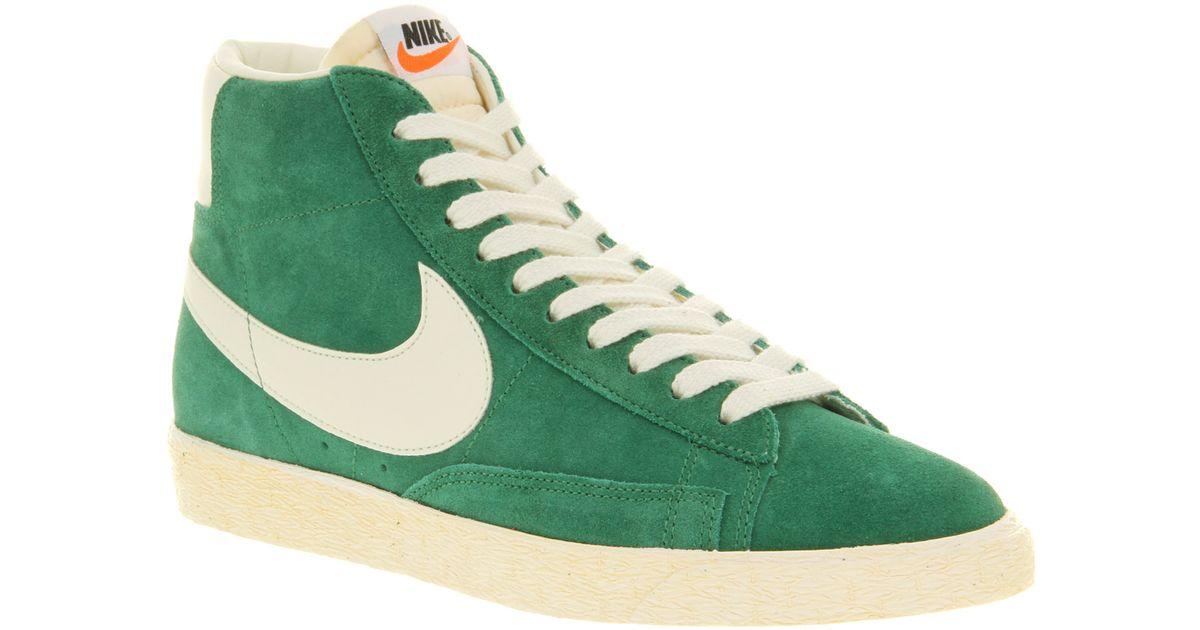 Nike Blazer Hi Suede Vntage Pine Green