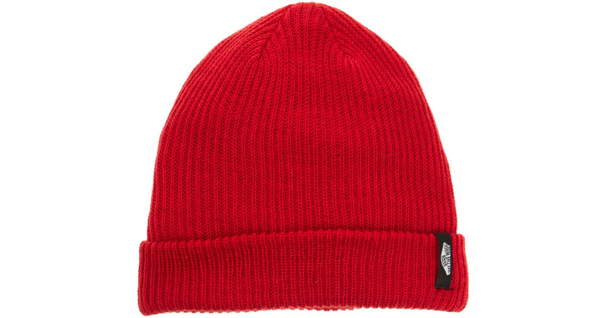 Lyst - Vans Beanie in Red for Men ff7a93df8a5c