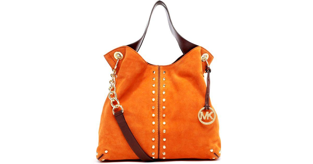 Michael Kors Uptown Astor Large Shoulder Bag Bordeaux Leather