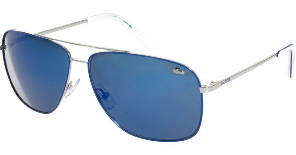 94cd60e7e1f Lyst - Lacoste Aviator Sunglasses in Blue for Men