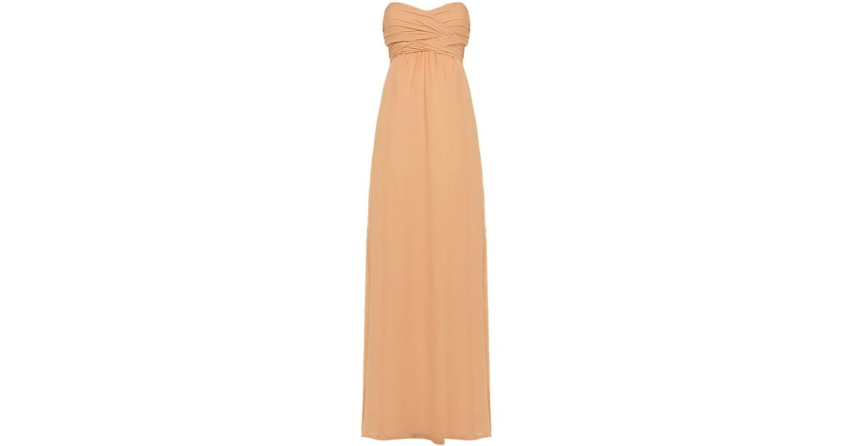 72746f6f2082 Ted Baker Nour Silk Maxi Dress in Natural - Lyst