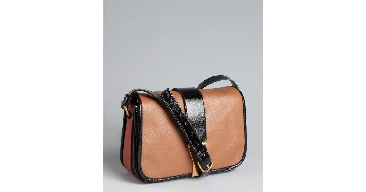 Saint laurent Opium Leather Chyc Medium Crossbody Bag in Brown | Lyst
