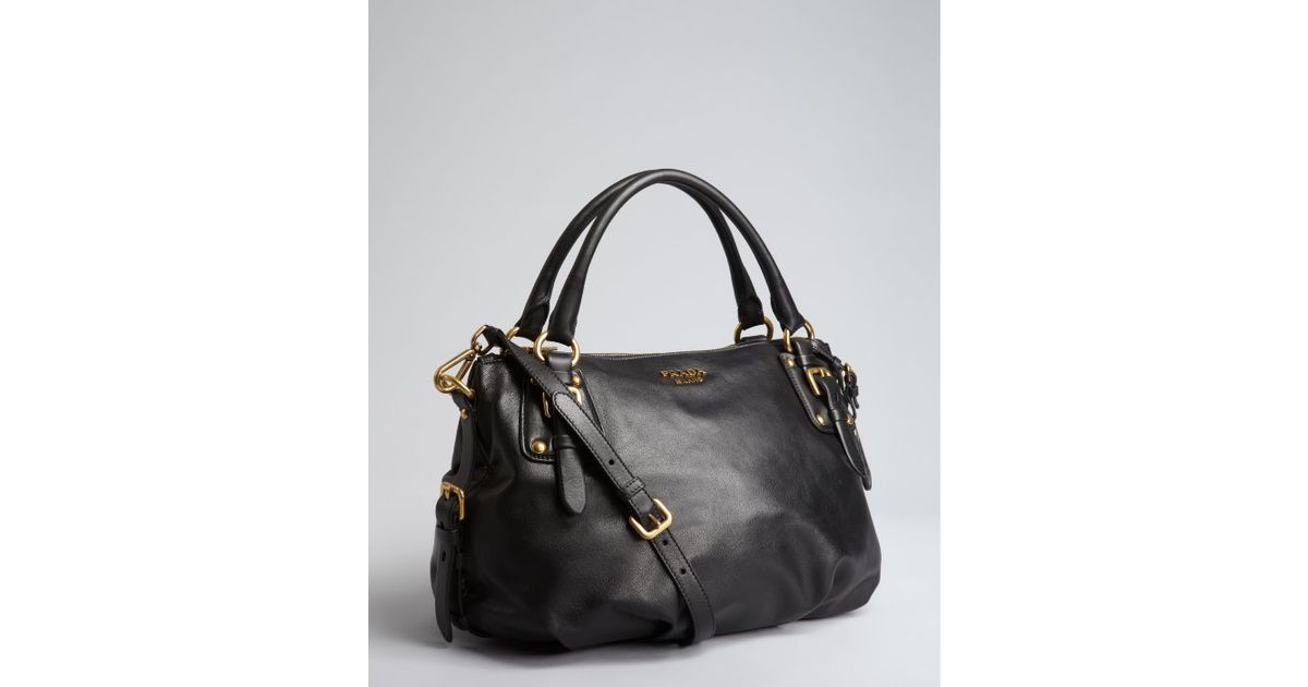 prada lux double shoulder bag calfskin