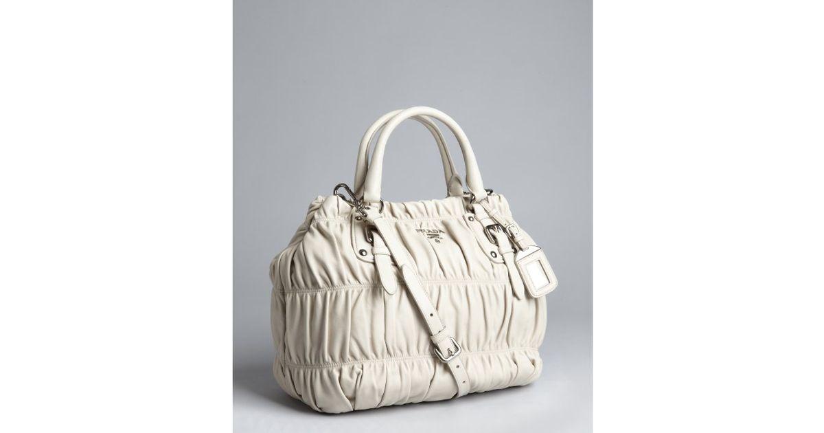 prada galleria bag chalk white