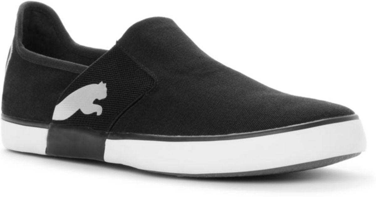 PUMA Lazy Slip On Sneakers in Black