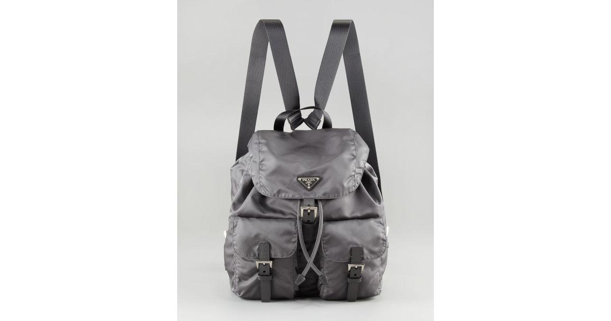 prada vela large drawstring backpack