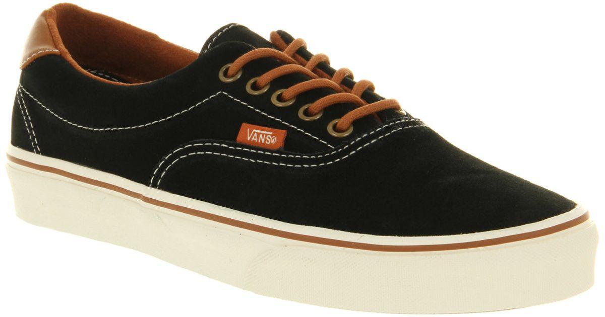 Vans Era 59 Suede Black Leather Brown for men
