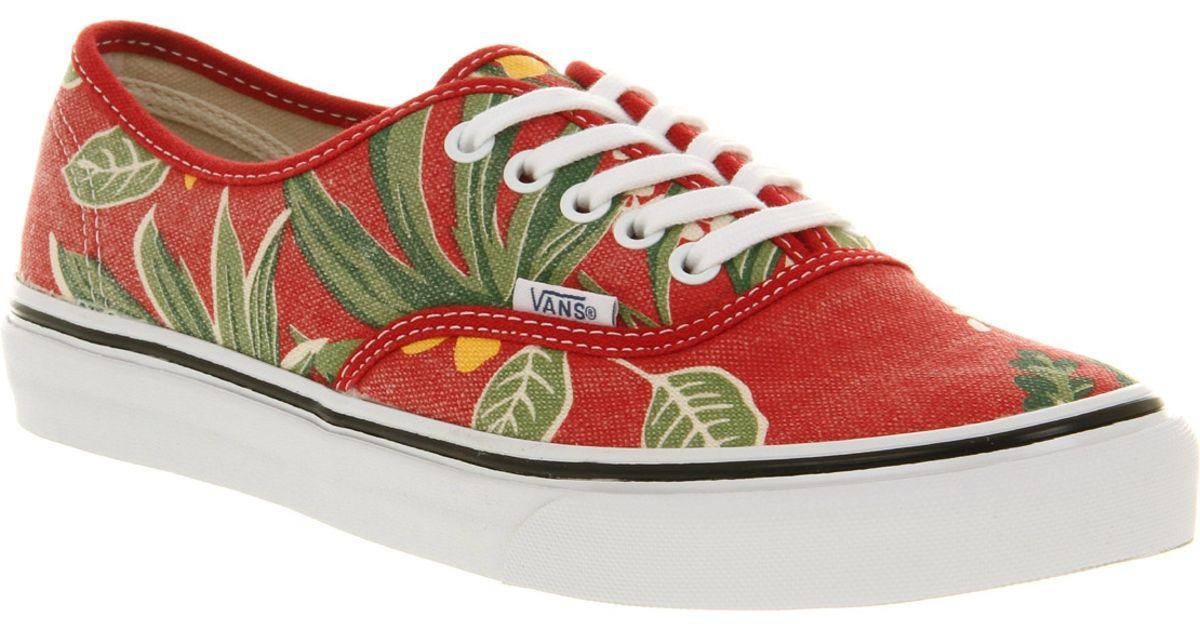 Vans Authentic Slim Van Doren Red