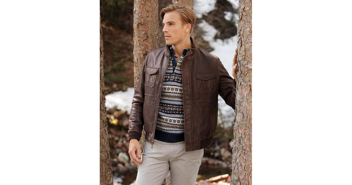 Lyst - Brooks brothers Shetland Fair Isle Button Mockneck Sweater ...