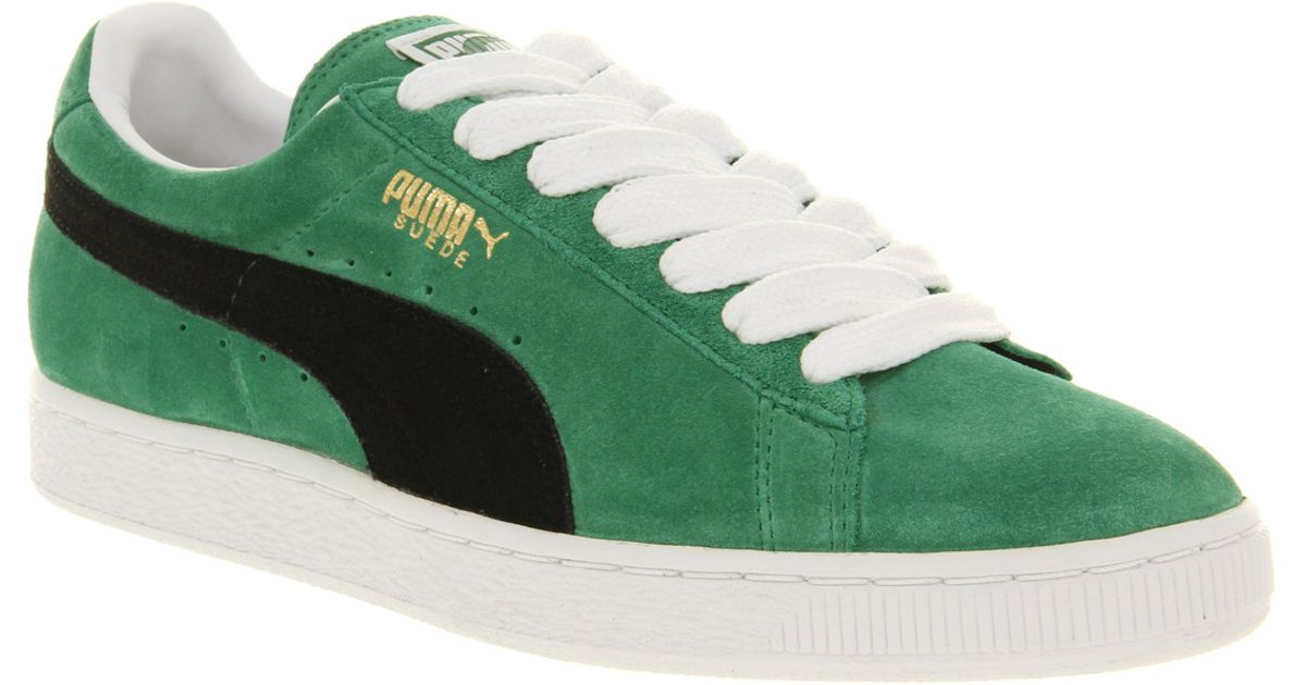 best service b3b47 c8bf6 PUMA Green Suede Classic Amazonblack for men