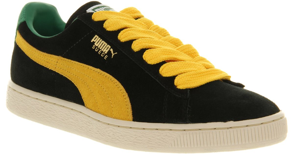 PUMA Suede Classic Black yellow for men