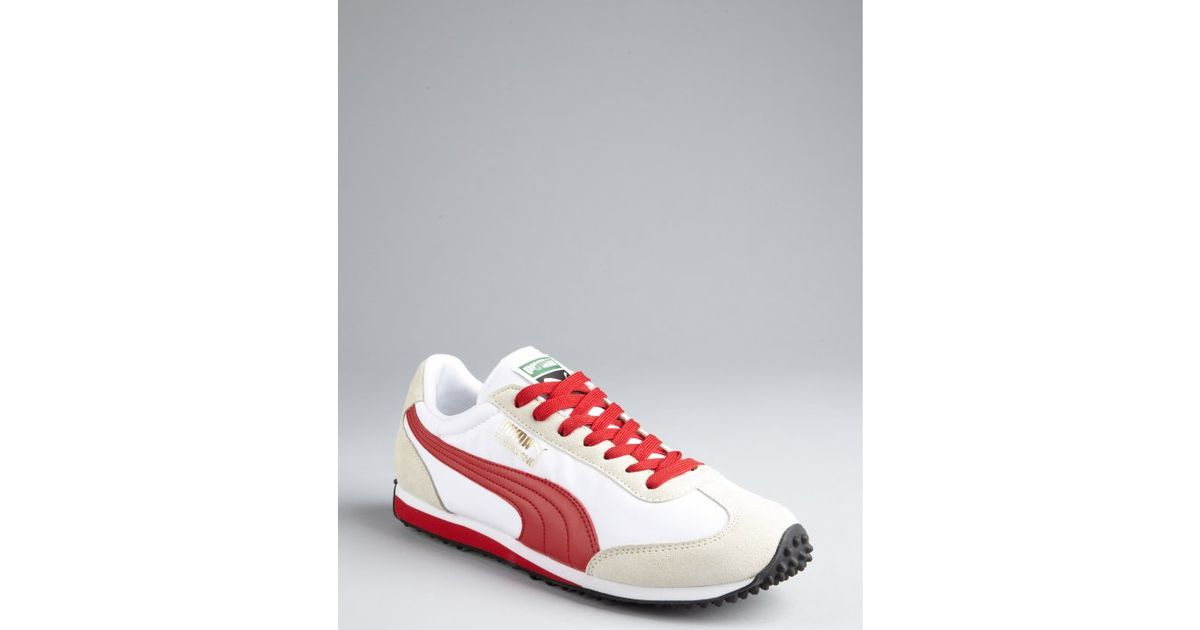 Lyst - Puma White and Red Nylon Whirlwind Classic Striped Sneakers in White  for Men 794d2493b