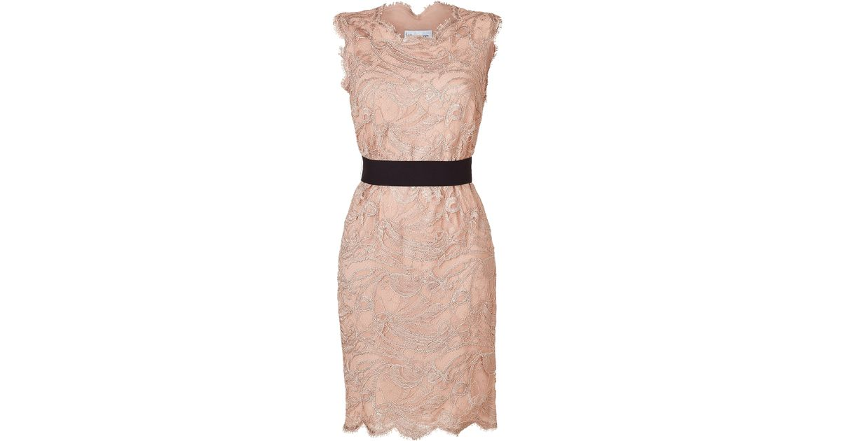 Lyst - Emilio Pucci Colonial Rose Lace Dress in Pink