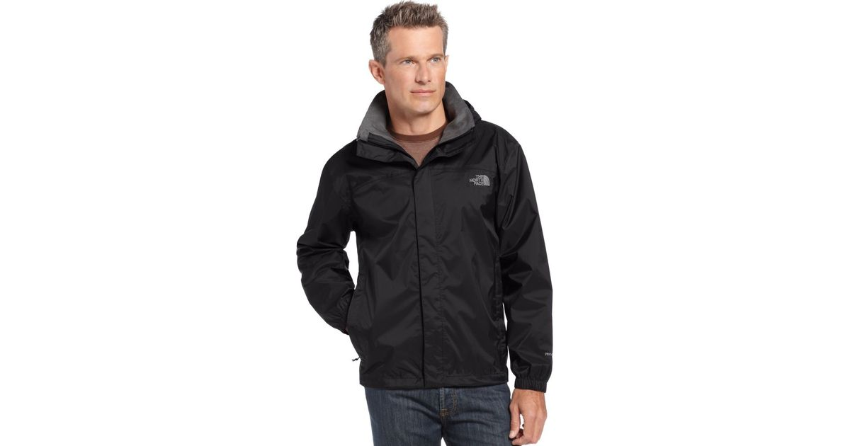 badecc84d The North Face Black Resolve Waterproof Rain Jacket for men