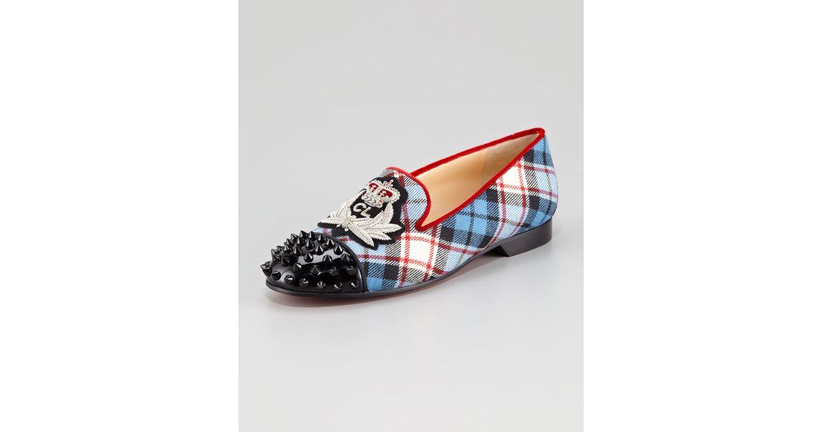 christian laboutain shoes - christian louboutin velvet cap-toe intern loafers, imitation ...