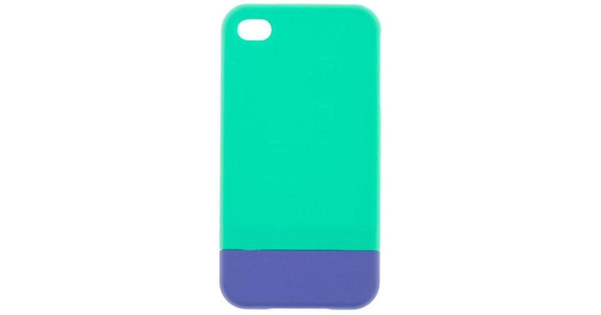 purchase cheap 7e754 bd15e J.Crew - Green Colorblock Iphone 4 Case - Lyst
