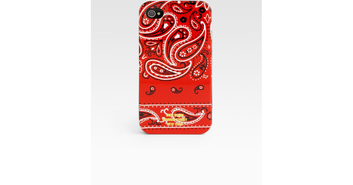 buy popular 1b92b 02d9f Jack Spade Red Bandana Iphone Case for men