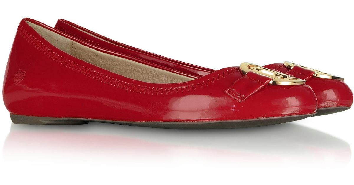 Moschino Love Moschino Red Patent Ballerina Shoes