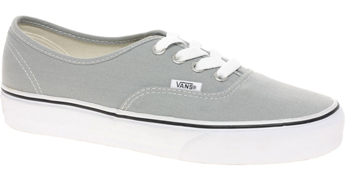 c5d10aff7587 Lyst - Vans Authentic Classic Grey White Lace Up Trainers in Gray
