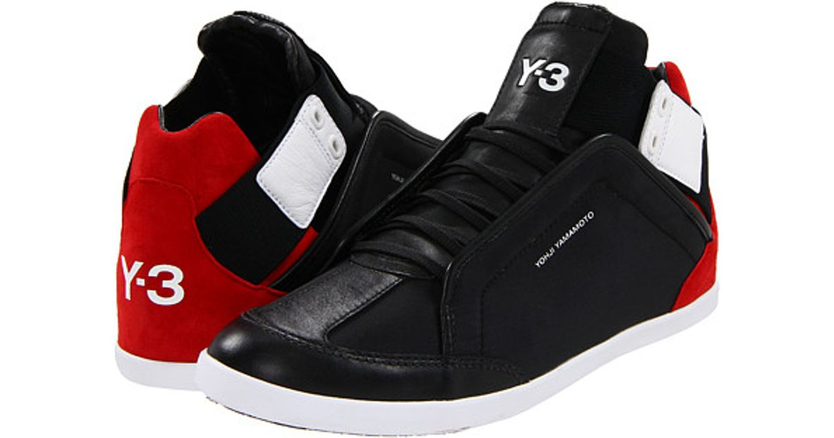 cf5c9f475dc1 ... lyst y 3 kazuhiri high top sneaker in red for men