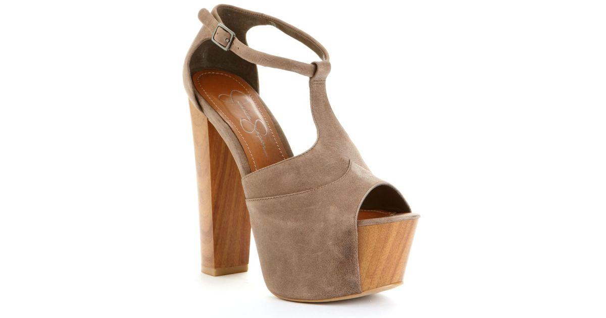 7abef8fe742 Jessica Simpson Brown Dany Platform Sandals