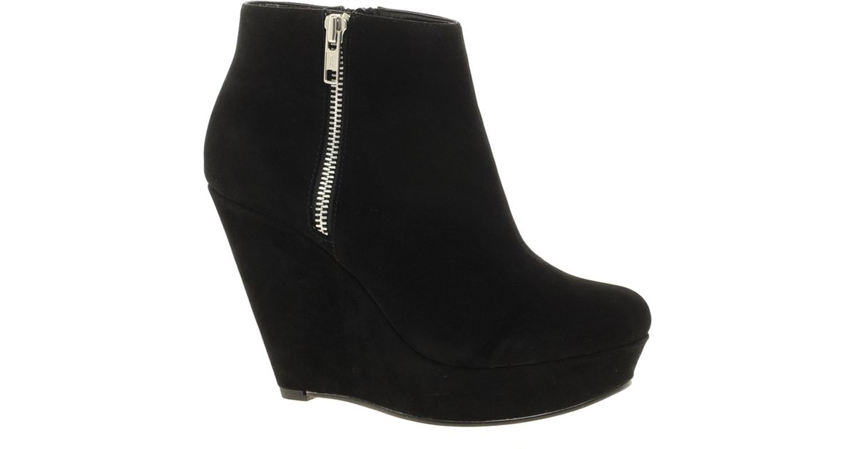 8ee4a7e92cc Lyst - KG by Kurt Geiger Miss Kg Felicity Wedge Ankle Boots in Black