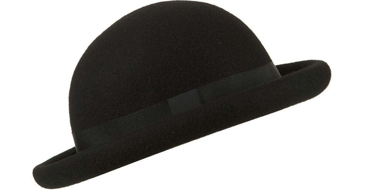 1eab8b9de TOPSHOP Black Roller Bowler Hat