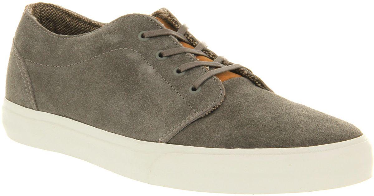 Lyst - Vans 106 Vulcanized Ca Suede Charcoal Grey in Gray for Men b541cfeb1