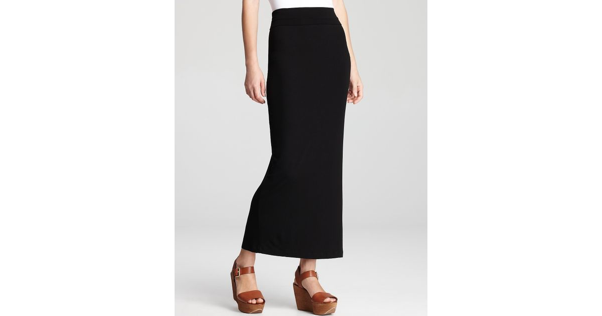 9e04a2269 Eileen Fisher Foldover Maxi Straight Skirt in Black - Lyst