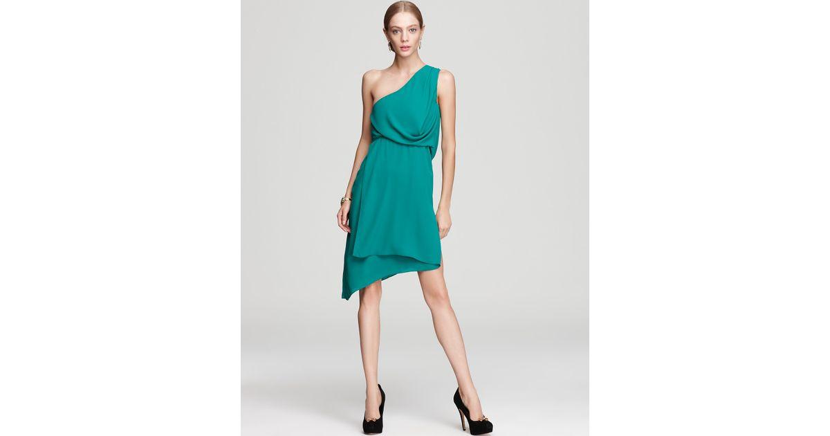 cd0a4e10a9a BCBGMAXAZRIA One Shoulder Dress Somara Asymmetric in Blue - Lyst