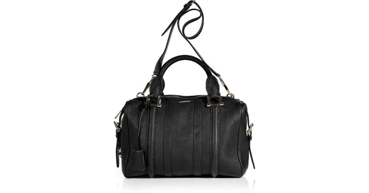 Lyst - Burberry Black Bowling Grain Leather Medium Nevinson Bag in Black 7ed280043dfe5