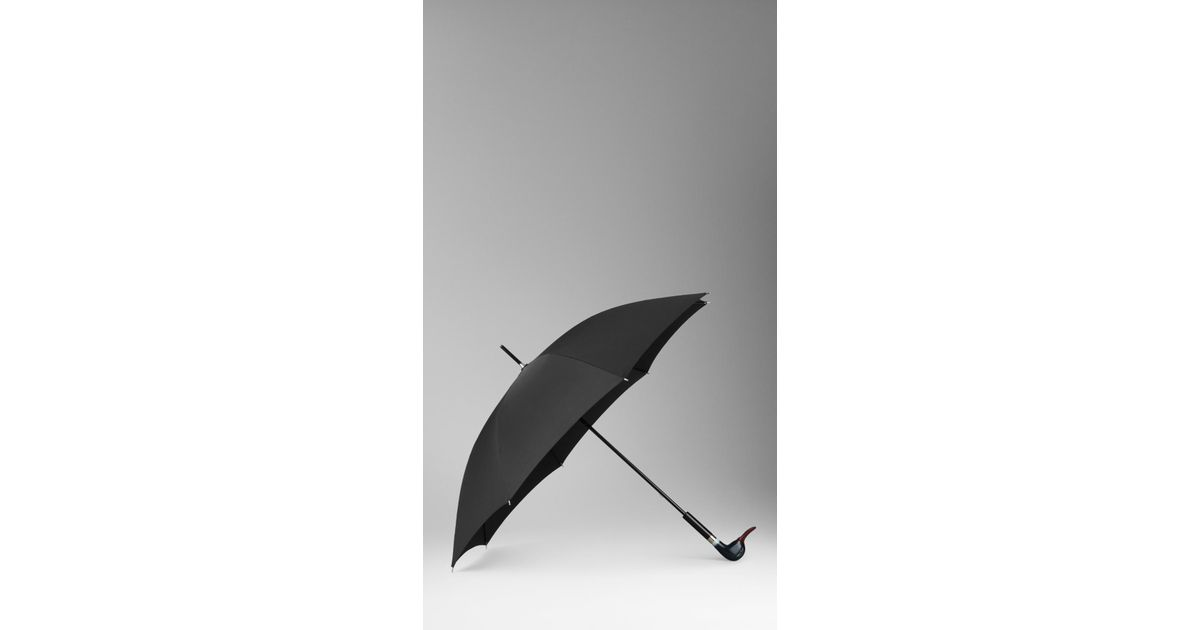 Burberry Duck Handle Walking Umbrella In Blue Lyst