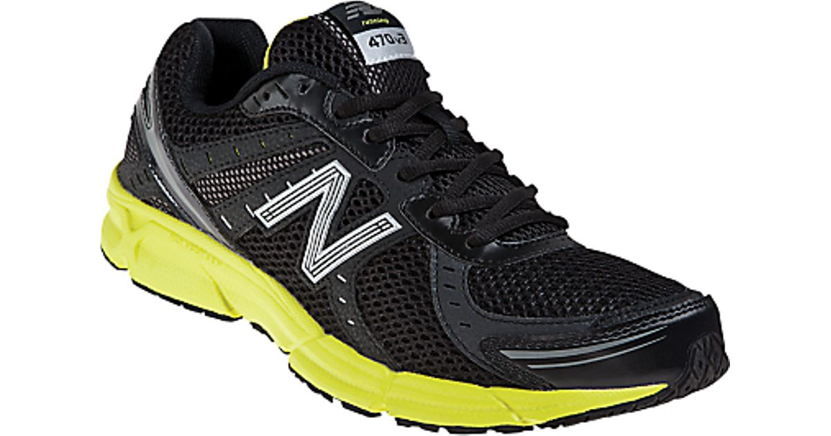 cost charm best loved sale usa online New Balance 470 Mens Neutral Running Shoes Blackyellow for men