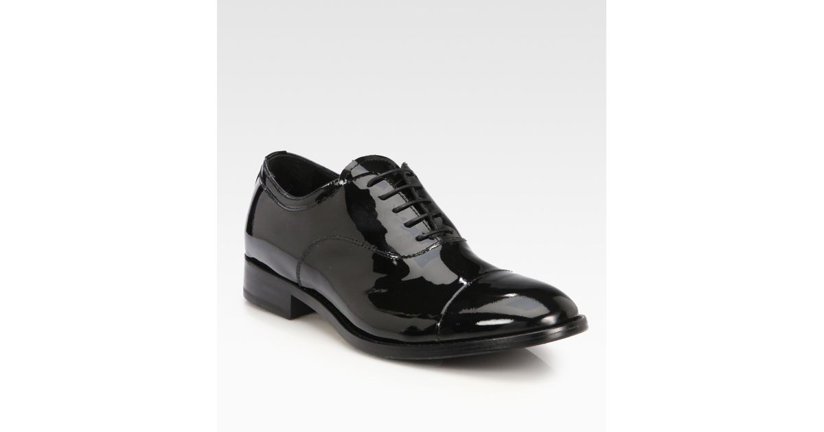 Armani Patent Lace-Up Oxfords pv7wT