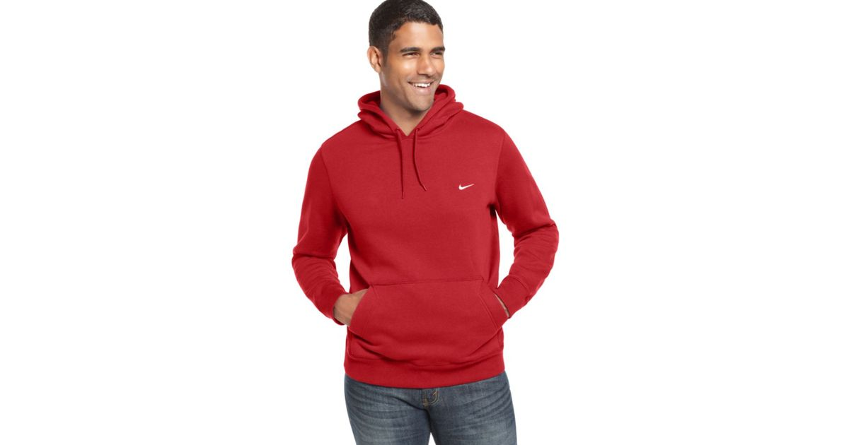 4f4679714f48 Lyst - Nike Classic Pullover Fleece Hoodie in Red for Men