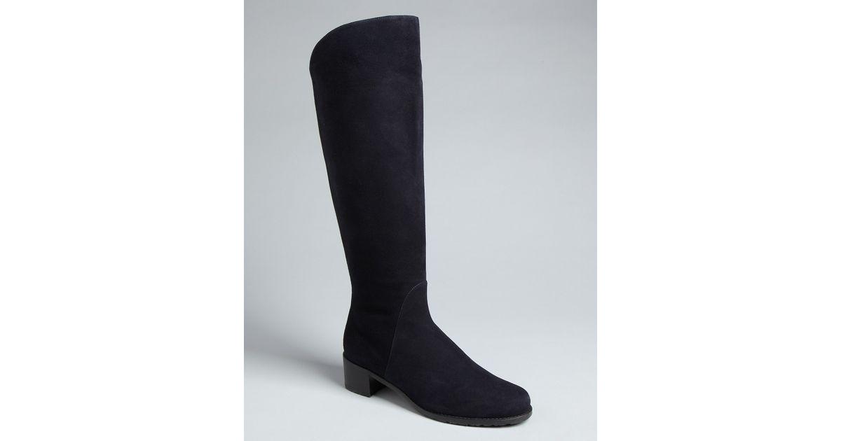 dff7d1012c4 Stuart Weitzman - Black Tall Flat Boots Arlington - Lyst