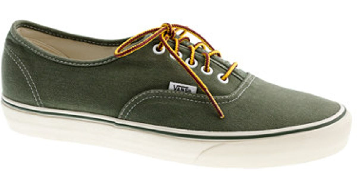 4d0d3ad72d Lyst - J.Crew Vans For Jcrew Washed Canvas Sneakers in Green for Men