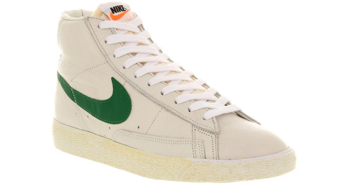 Nike Blazer Mid Prm Vntg Qs - Couleur Kaki Jupe Kaki  / Cargo