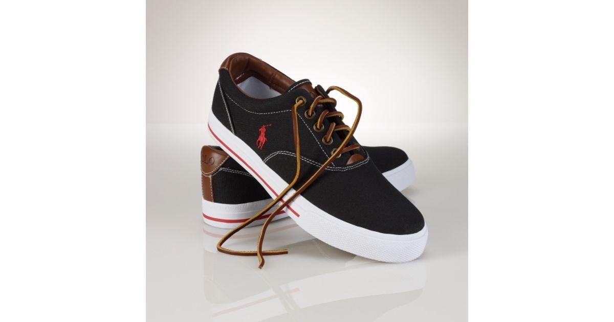 Sneaker Men Vaughn Polo Black Ralph Canvas For Lauren dshrxQBtC