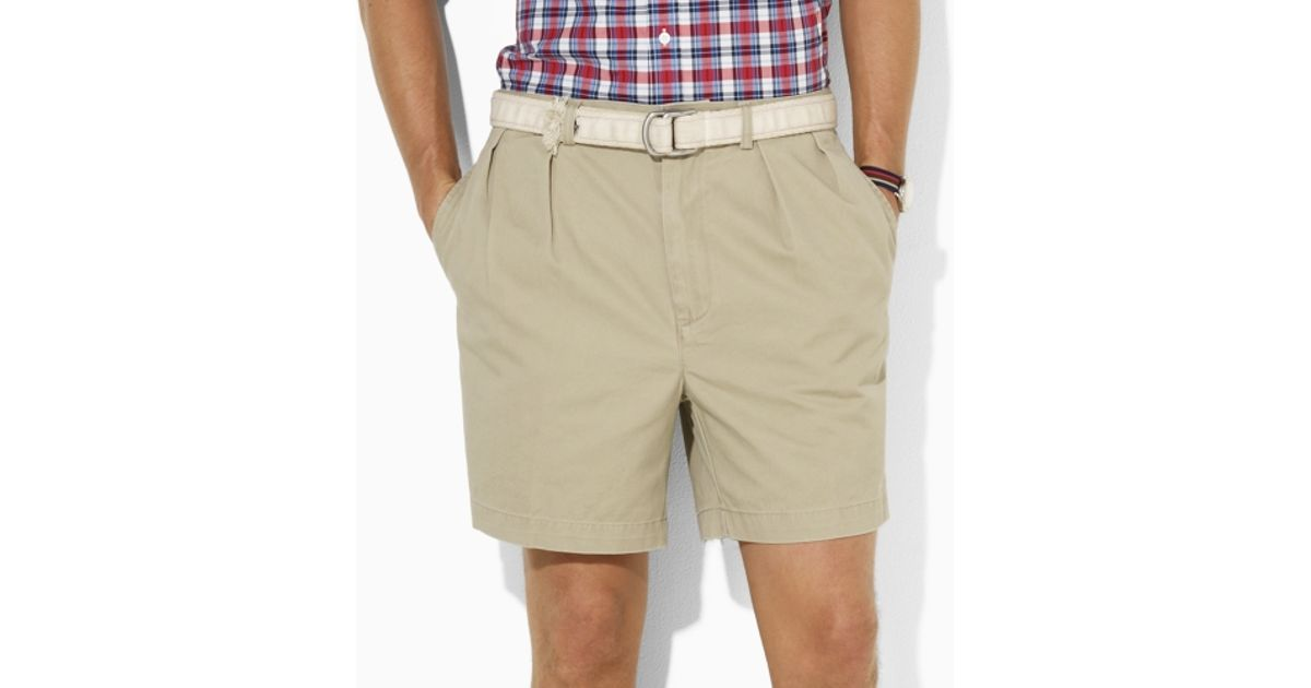 Short Ralph Lauren For Polo Andrew Men Natural Pleated W2YDH9EI