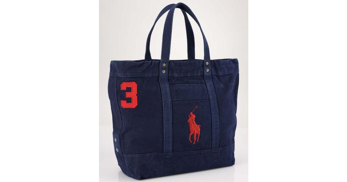 af91c45d05 Lyst - Ralph Lauren Big Pony Tote Bag in Blue for Men