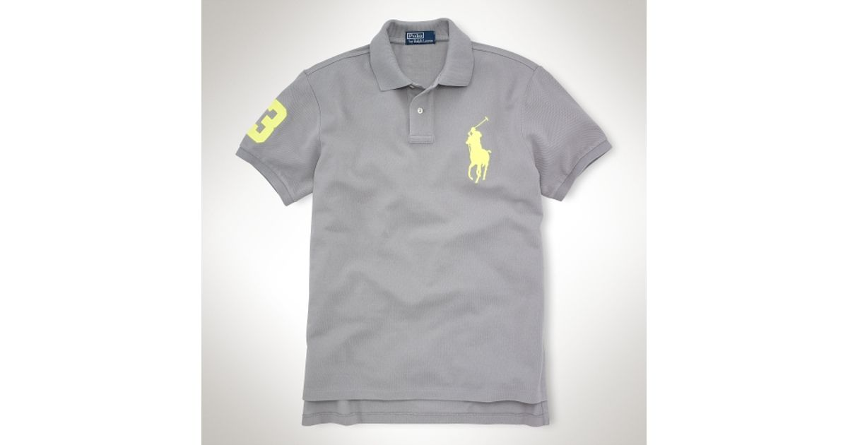 Ralph Lauren Men TOKOY Black White Big Pony Polo