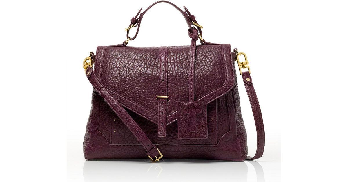 4e835b9c978c Tory Burch 797 Large Satchel in Purple - Lyst