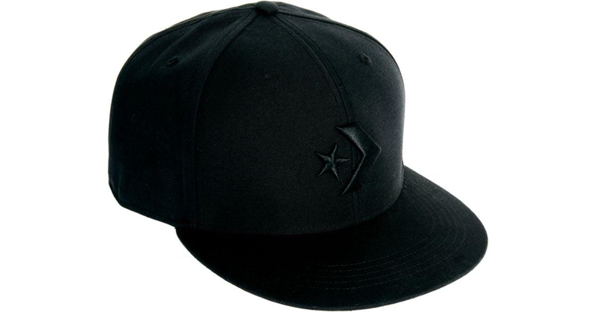 Lyst - Converse Snapback Cap in Black for Men 7a4facce618