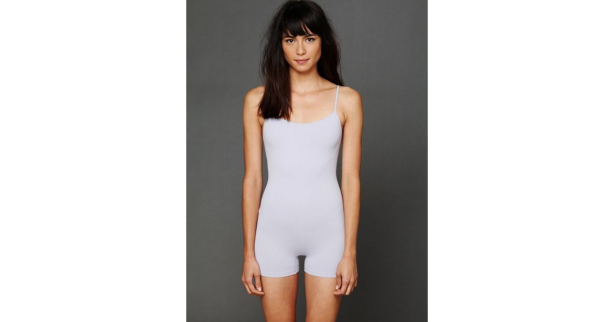 bc60c105a6f2 Free People - Purple Seamless Bodysuit - Lyst