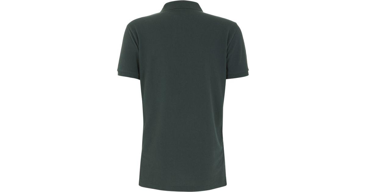 df55a503 ... switzerland lyst polo ralph lauren dark green custom fit mesh polo shirt  in green for men