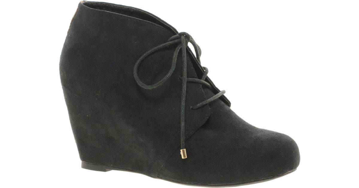 River Island Lace Up Wedge Ankle Boots